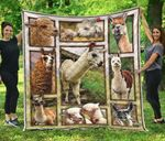Alpaca Pictures Quilt Blanket Great Customized Blanket Gifts For Birthday Christmas Thanksgiving