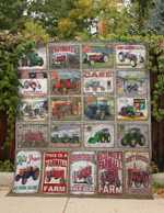 Tractors Farmall Quilt Blanket Great Customized Blanket Gifts For Birthday Christmas Thanksgiving