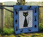 Black Cat The Cat Sat Quietly Quilt Blanket Great Customized Blanket Gifts For Birthday Christmas Thanksgiving