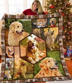 Golden Retriever Dogs Beauty Nature Quilt Blanket Great Customized Gifts For Birthday Christmas Thanksgiving Anniversary