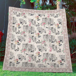 Border Collie Dogs Apartment Rose Quilt Blanket Great Customized Gifts For Birthday Christmas Thanksgiving Anniversary