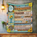 Personalized My Dear Daughter, Once Upon A Time From Mom Wooden Planks Filled By Sunflowers Quilt Blanket Great Customized Blanket Gifts For Birthday Christmas Thanksgiving
