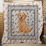 Labrador Retriever Pattern Paw Drawing Quilt Blanket Great Customized Blanket Gifts For Birthday Christmas Thanksgiving Anniversary