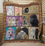 Poodle Dog Drawing Friends Emotion Keep Calm And Hug A Poodle Quilt Blanket Great Customized Blanket Gifts For Birthday Christmas Thanksgiving Anniversary
