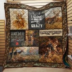 Hunting I Hunt To Burn Off The Crazy Quilt Blanket Great Customized Gifts For Birthday Christmas Thanksgiving Perfect Gifts For Hunting Lover