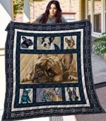 French Bulldog Small Dog Lying With Sadness Quilt Blanket Great Customized Blanket Gifts For Birthday Christmas Thanksgiving