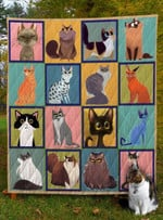 Cat I Love Cats Lovely Quilt Blanket Great Customized Gifts For Birthday Christmas Thanksgiving Anniversary