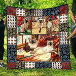 Cute Siamese Pets Cat Quilt Blanket Great Customized Gifts For Birthday Christmas Thanksgiving Perfect Gifts For Cat Lover