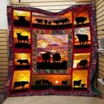 Bulls In The Sunset Big Bulls Quilt Blanket Great Customized Blanket Gifts For Birthday Christmas Thanksgiving