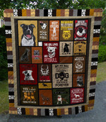 Pitbull Loyal To The Done Beautiful Quilt Blanket Great Customized Blanket Gifts For Birthday Christmas Thanksgiving