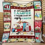Camping With Dogs Christmas Quilt Blanket