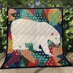 Polar Bear Quilt Blanket Great Customized Blanket Gifts For Birthday Christmas Thanksgiving