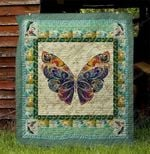 Butterfly Special Pattern Butterfly Vintage Huge Wings Quilt Blanket Great Customized Blanket Gifts For Birthday Christmas Thanksgiving