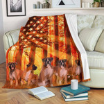 Boxer Beautiful Boxer Nice Dogs Wooden Forest American Flag Quilt Blanket Great Customized Blanket Gifts For Birthday Christmas Thanksgiving