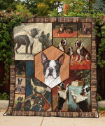 Boston Terrier Playing Quilt Blanket Great Customized Blanket Gifts For Birthday Christmas Thanksgiving