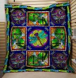Animal Dragonfly Abstract Their Love Quilt Blanket Great Customized Gifts For Birthday Christmas Thanksgiving Anniversary