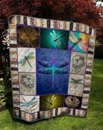 Animal Dragonfly With Light Wings Quilt Blanket Great Customized Gifts For Birthday Christmas Thanksgiving Anniversary
