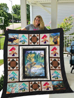 Deer In Nature Vintage Style Quilt Blanket Great Customized Gifts For Birthday Christmas Thanksgiving Anniversary