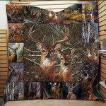 Couple Deer Loves The Woods Quilt Blanket Great Customized Gifts For Birthday Christmas Thanksgiving Anniversary
