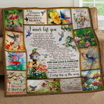 Hummingbird  I Never Left You I Watch You Everyday Quilt Blanket Great Customized Blanket Gifts For Birthday Christmas Thanksgiving