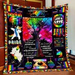 I Choose You Proud Lgbt Unicorn Dabbing Quilt Blanket Great Customized Blanket Gifts For Birthday Christmas Thanksgiving