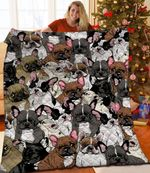 Bulldog Ugly Faces Quilt Blanket