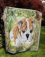 Bulldog Little Cutie Puppy Quilt Blanket