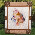 Chihuahua Dogs Water Color Painting Quilt Blanket