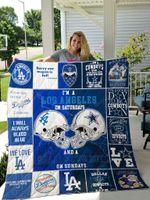 Los Angeles Dodgers & Dallas Cowboys Quilt Blanket