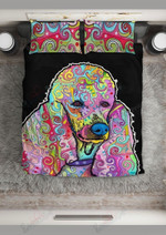 Poodle Hippie Colorful Dog Bed Sheets Duvet Cover Bedding Set Great Gifts For Birthday Christmas Thanksgiving