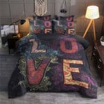Love Hippie Paisley Bed Sheets Duvet Cover Bedding Set Great Gifts For Birthday Christmas Thanksgiving