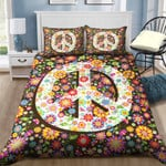Hippie Peace Bed Sheets Duvet Cover Bedding Set Great Gifts For Birthday Christmas Thanksgiving