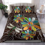 Hippie Flower And Dragonfly Bed Sheets Spread Duvet cover Bedding Sets