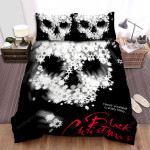 Black Christmas Movie Skullcap Photo Bed Sheets Spread Comforter Duvet Cover Bedding Sets