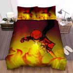 Randy Cunningham: 9th Grade Ninja Flame Power Bed Sheets Spread Duvet Cover Bedding Sets