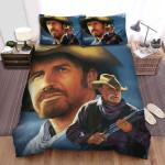 Open Range (2003) Movie Blue Background Photo Bed Sheets Spread Comforter Duvet Cover Bedding Sets
