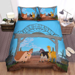 Home On The Range (2004) Patch Of Heaven Gate Movie Poster Bed Sheets Spread Comforter Duvet Cover Bedding Sets