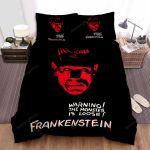 Frankenstein Warning Bed Sheets Spread Comforter Duvet Cover Bedding Sets