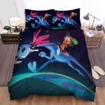 Wander Over Yonder Chasing Cat Bed Sheets Spread Duvet Cover Bedding Sets