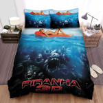 Piranha 3d Poster 5 Bed Sheets Spread Comforter Duvet Cover Bedding Sets