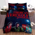 An American Werewolf In London Sign Bed Sheets Spread Comforter Duvet Cover Bedding Sets
