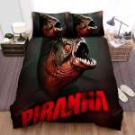 Piranha 3d Fish 2 Bed Sheets Spread Comforter Duvet Cover Bedding Sets
