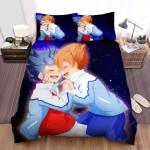 Inazuma Eleven Endou Hugging Mizukamiya Bed Sheets Spread Duvet Cover Bedding Sets