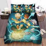 Inazuma Eleven Holding The Ball Bed Sheets Spread Duvet Cover Bedding Sets
