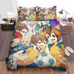 Inazuma Eleven Play Ball Together Bed Sheets Spread Duvet Cover Bedding Sets