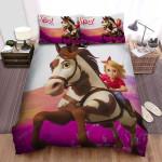 Spirit Untamed (2021) Movie Ride A Horse Photo Bed Sheets Spread Comforter Duvet Cover Bedding Sets