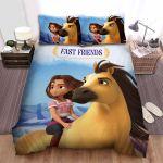 Spirit Untamed (2021) Movie Blue Background Photo Bed Sheets Spread Comforter Duvet Cover Bedding Sets