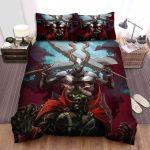 Spawn Combat Devil  Bed Sheets Spread Comforter Duvet Cover Bedding Sets