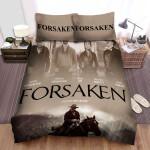 Forsaken (I) Four Main Actors And The Men On Horseback Movie Poster Bed Sheets Spread Comforter Duvet Cover Bedding Sets