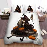 Halloween Witch Pumpkin Sale Art Bed Sheets Spread Duvet Cover Bedding Sets